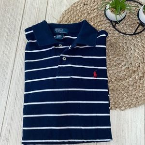 Polo Ralph Lauren navy & white striped polo size L
